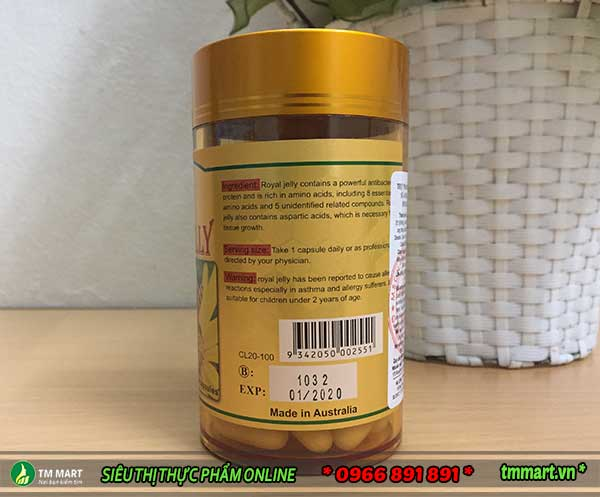 Royal Jelly Costar 1450mg 100 viên