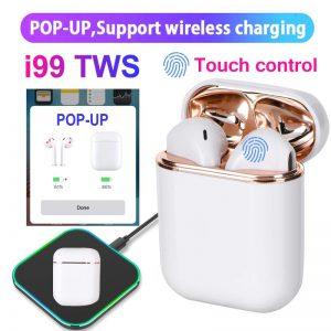 Tai nghe bluetooth TWS 5.0 i99 hiển thị pin