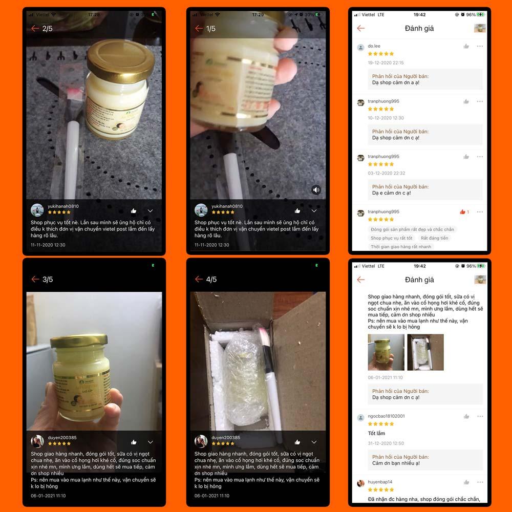 feedback sữa ong chúa tươi nguyên chất beemos